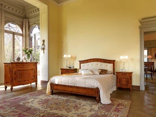 Letto Classico Testiera Decorata Rosita : Letti classici di lusso art letto