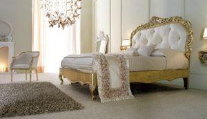 Art. 9051, Lussuoso letto in finitura oro