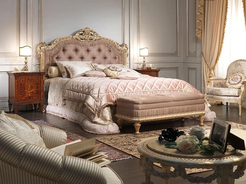 ... 907 letto, Letto in stile Luigi XV, per camera matrimoniale di lusso