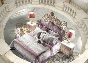 Bijoux Bedroom, Letto classico di lusso, testiera imbottita