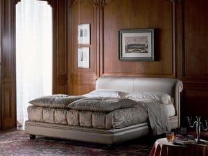 Caravaggio, Letto classico di lusso, imbottito, per camere d'albergo