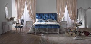 Easy letto, Letto classico con testata capitonnè