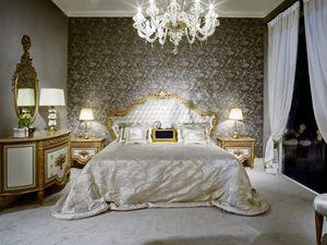 Letto 3700 STILE LUIGI XVI, Letto di lusso in stile Luigi XVI