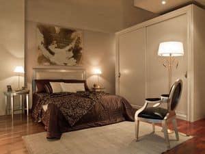Immagine di Letto Dream  con testata imbottita, letti in legno intagliato a mano