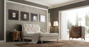 Li� laccato bianco letto, Letto classico, laccato bianco
