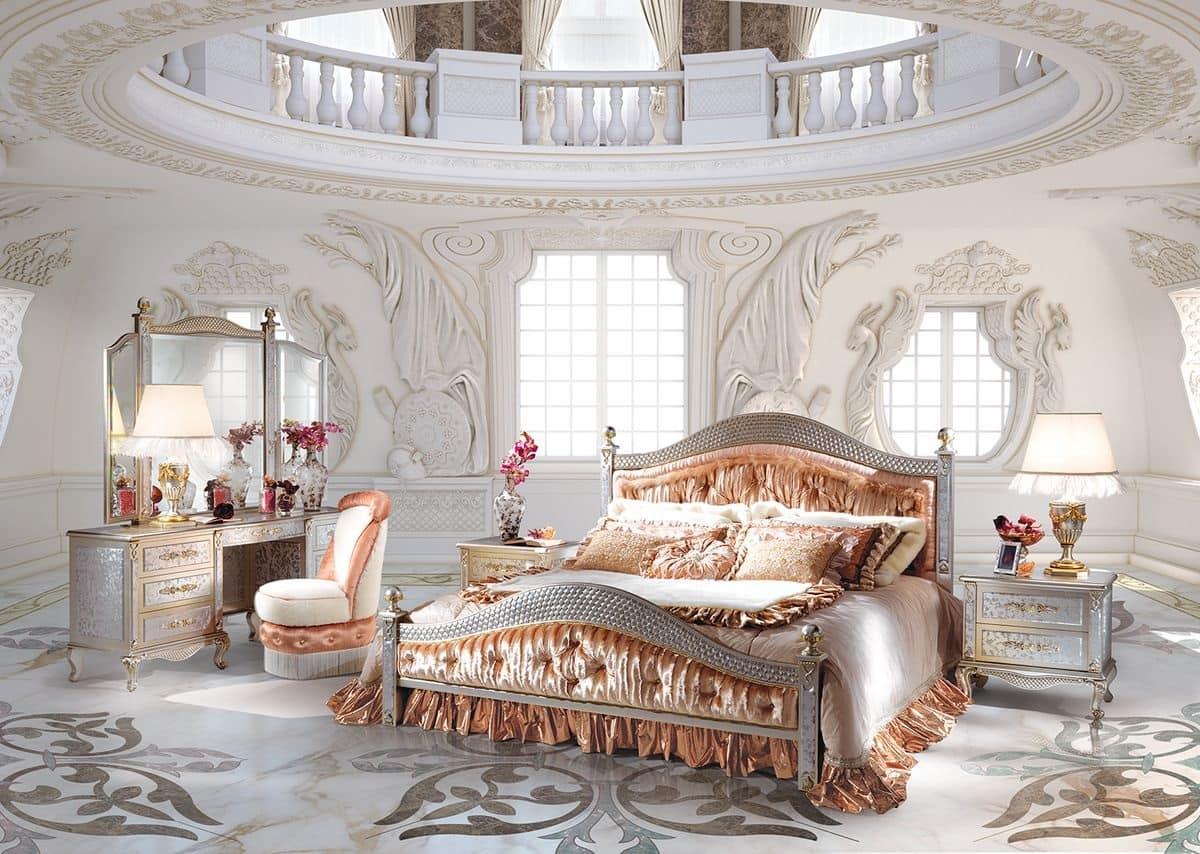 Lisa tre composizione camera da letto classica di lusso - Pediera del letto ...