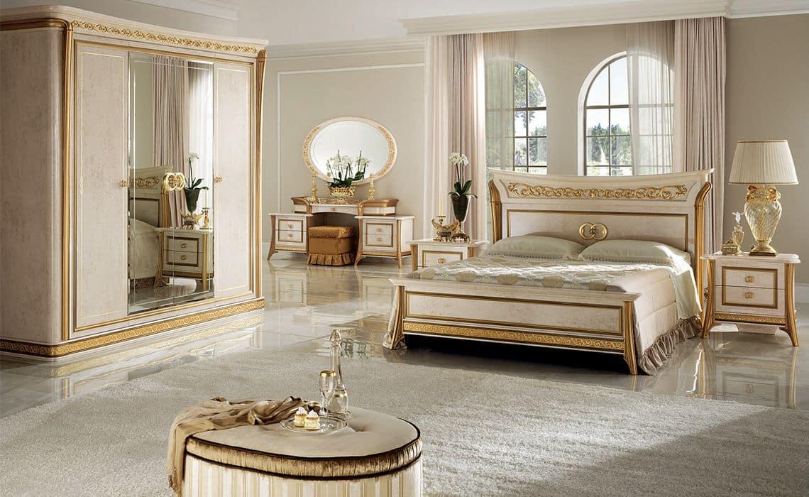 Melodia camera da letto 1, Camera da letto classica di lusso, per ville e hotel
