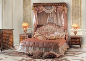 Paradise Bedroom, Letto matrimoniale con testiera imbottita capitonnè