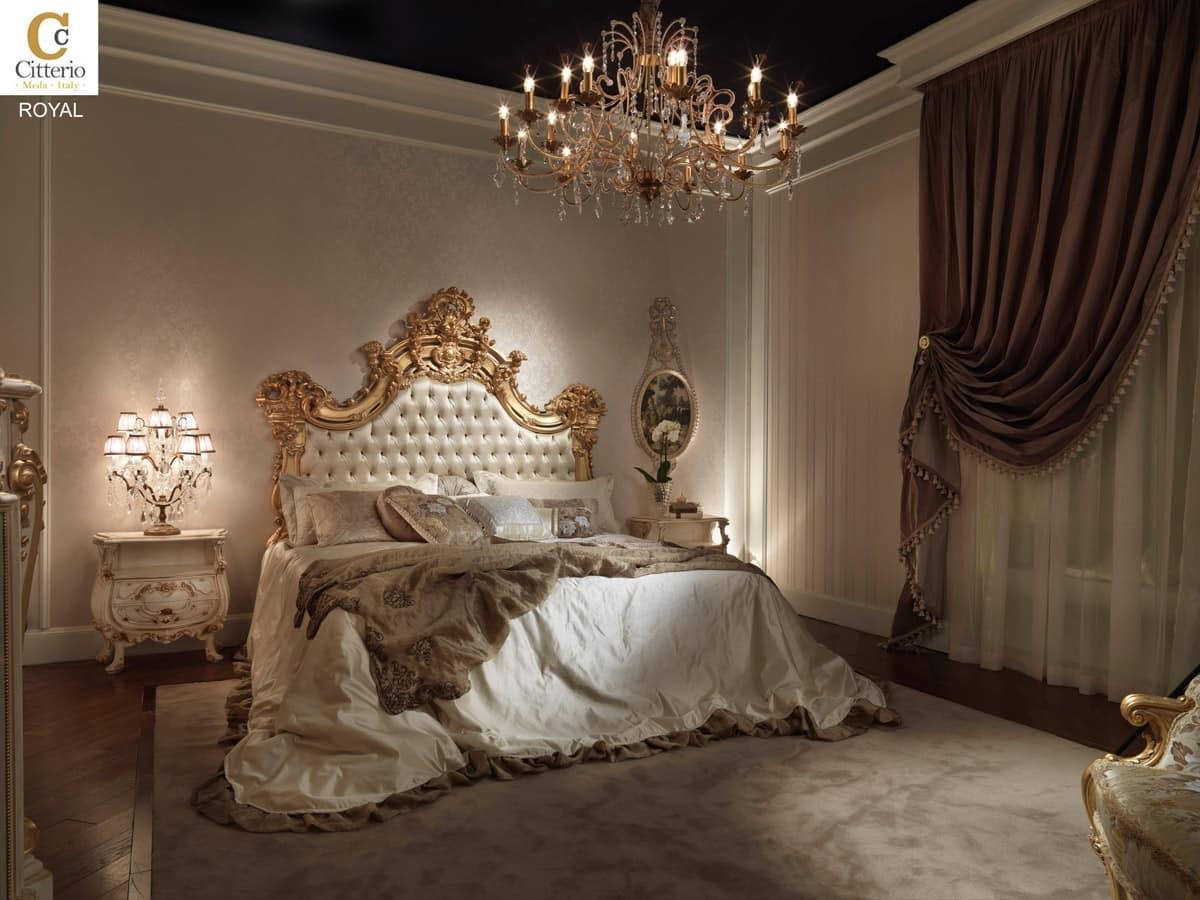 Camera da letto in legno massello in stile classico for Stile impero arredamento