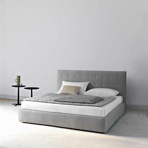 Montmartre letto, Letto contenitore, matrimoniale e singolo, con testata imbottita