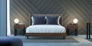 Ironwood letto Pad, Elegante letto con testiera imbottita in Nabuk