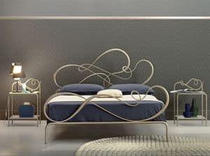Blues matrimoniale, Letto classico in ferro per Camera da letto elegante