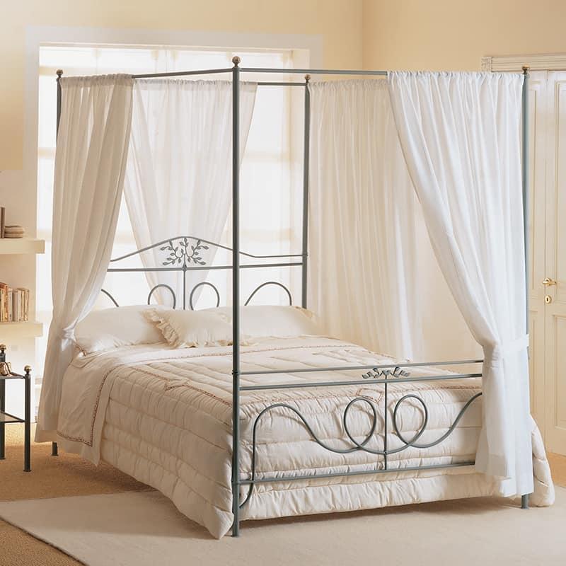 Letto in ferro battuto con decori a forma di fiore di pesco idfdesign - Camera da letto con letto rotondo ...