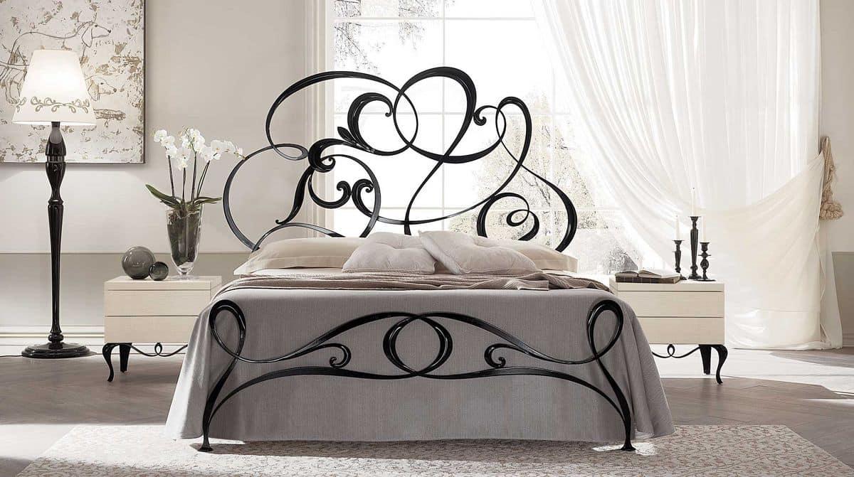 Letto matrimoniale in ferro lavorato a mano stile moderno - Camere da letto ferro battuto ...