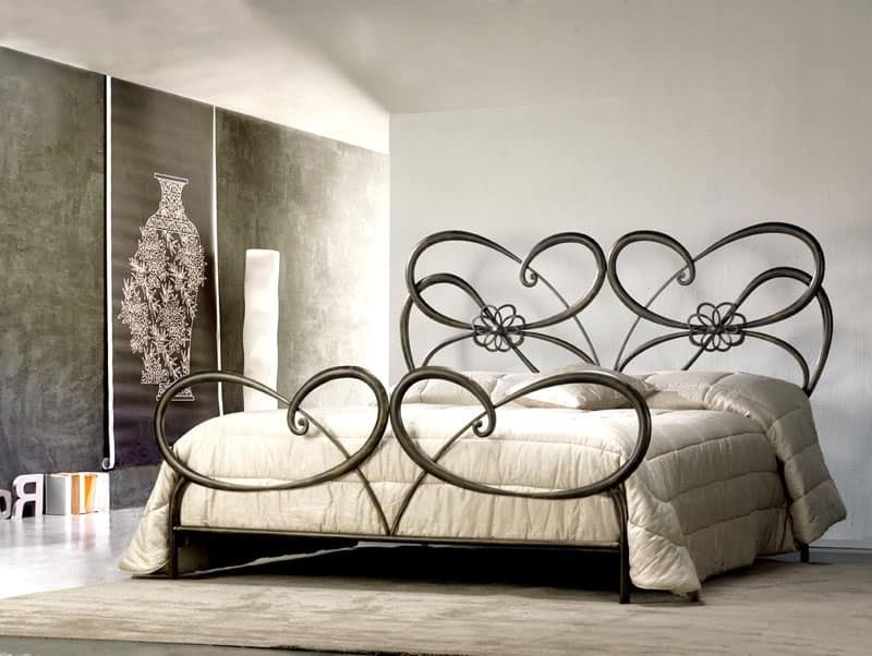 Letto matrimoniale in ferro battuto in stile moderno - Camere da letto ferro battuto ...