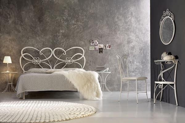 Letto in metallo letti in ferro battuto elegante letto for Letti in metallo
