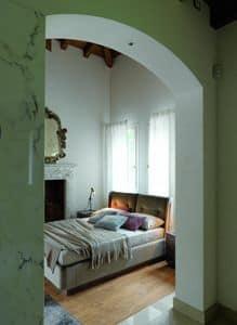 ELYSEE letto versione Chimera, Letto interamente imbottito di design, per camere moderne
