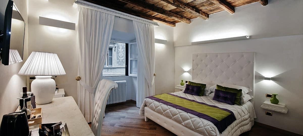 Letto Lucretia, Letto imbottito camera, letto capitonn� hotel