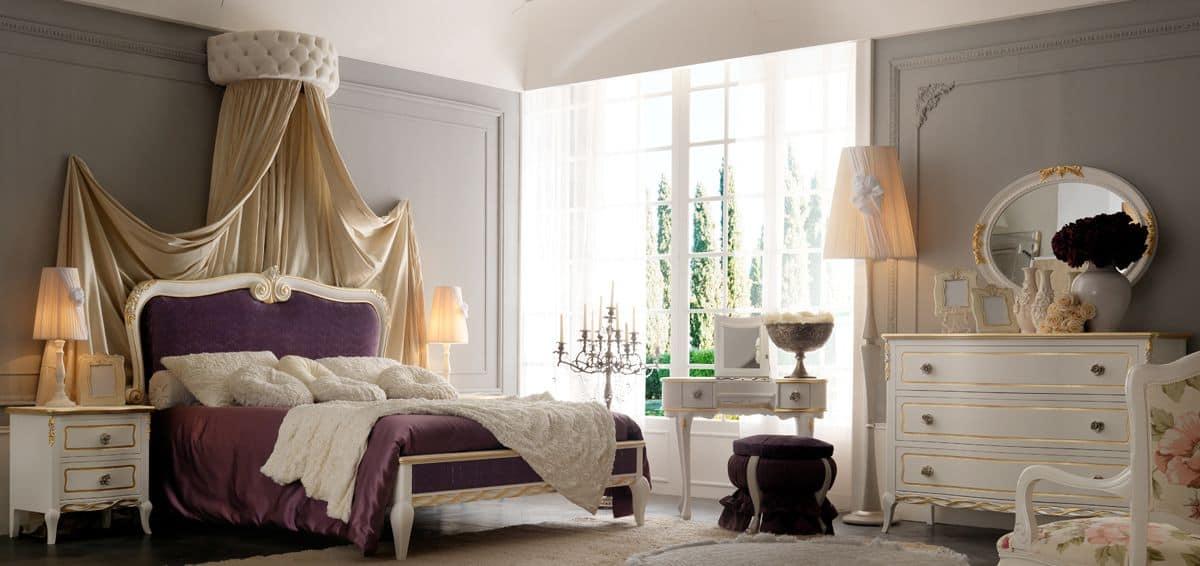 Live 5302 letto, Letto matrimoniale con testiera imbottita ideale per camere da letto lussose