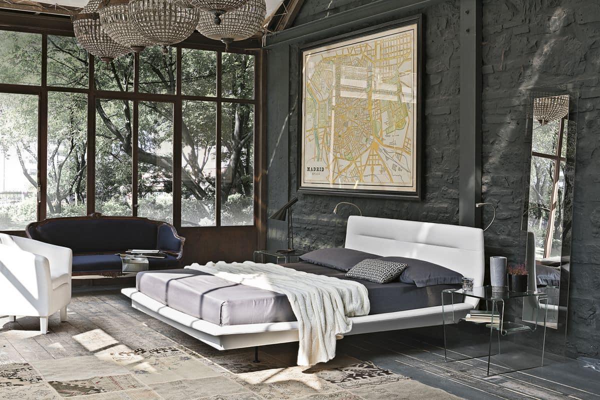 Letto matrimoniale con testiera imbottita ideale per for Camere da letto moderne design