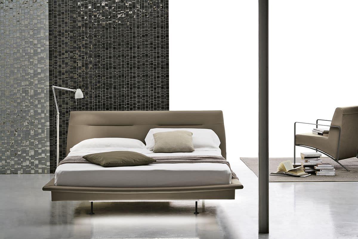 Testiera imbottita per letto matrimoniale design casa creativa e mobili ispiratori - Testiera letto imbottita ...