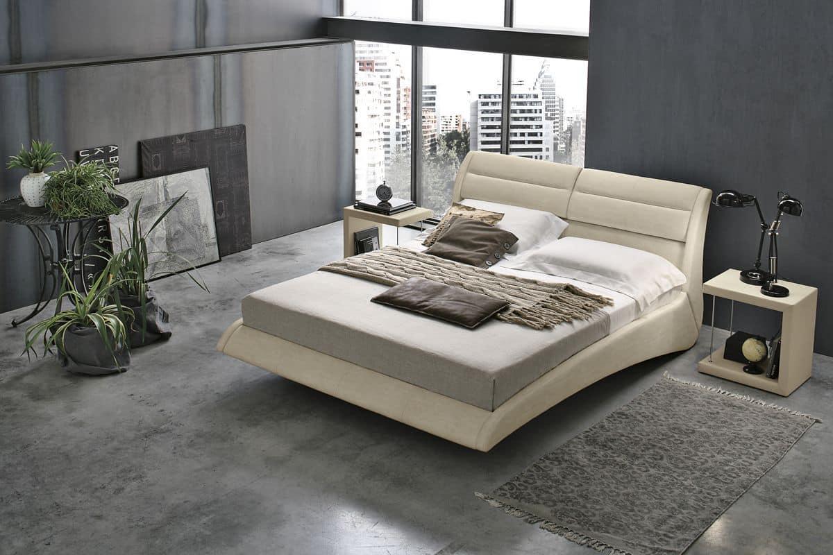 Letto matrimoniale con cuscini reclinabili idfdesign for Letti moderni design