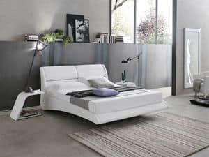 PONZA BD449, Letto matrimoniale con cuscini reclinabili
