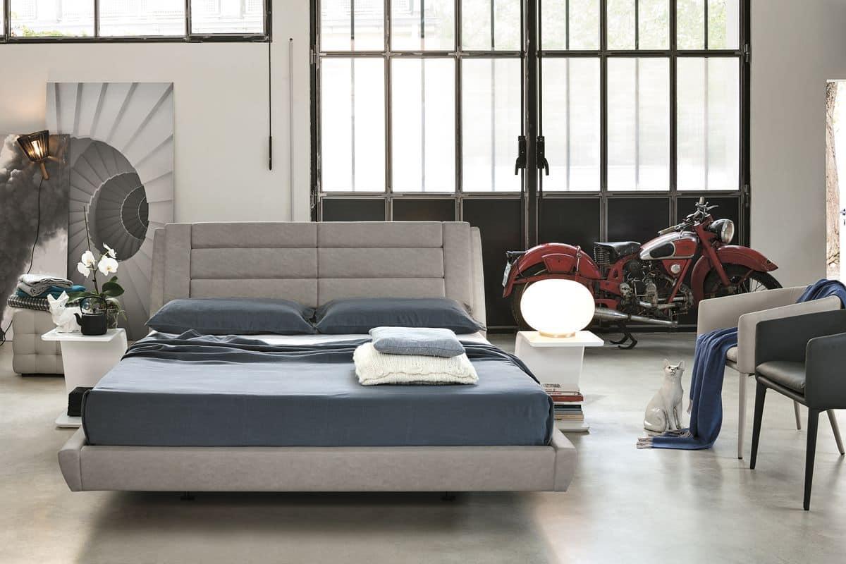 Roma bd441 letto metrimoniale imbottito ideale per camere - Camere da letto moderne roma ...