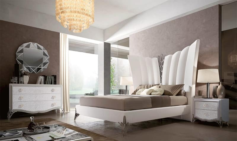 letto imbottito letto in pelle letto lussuoso stanza da letto idfdesign. Black Bedroom Furniture Sets. Home Design Ideas