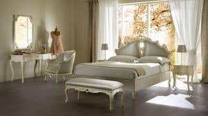 Sissi imbottito letto, Letto imbottito in legno massello, per alberghi di lusso