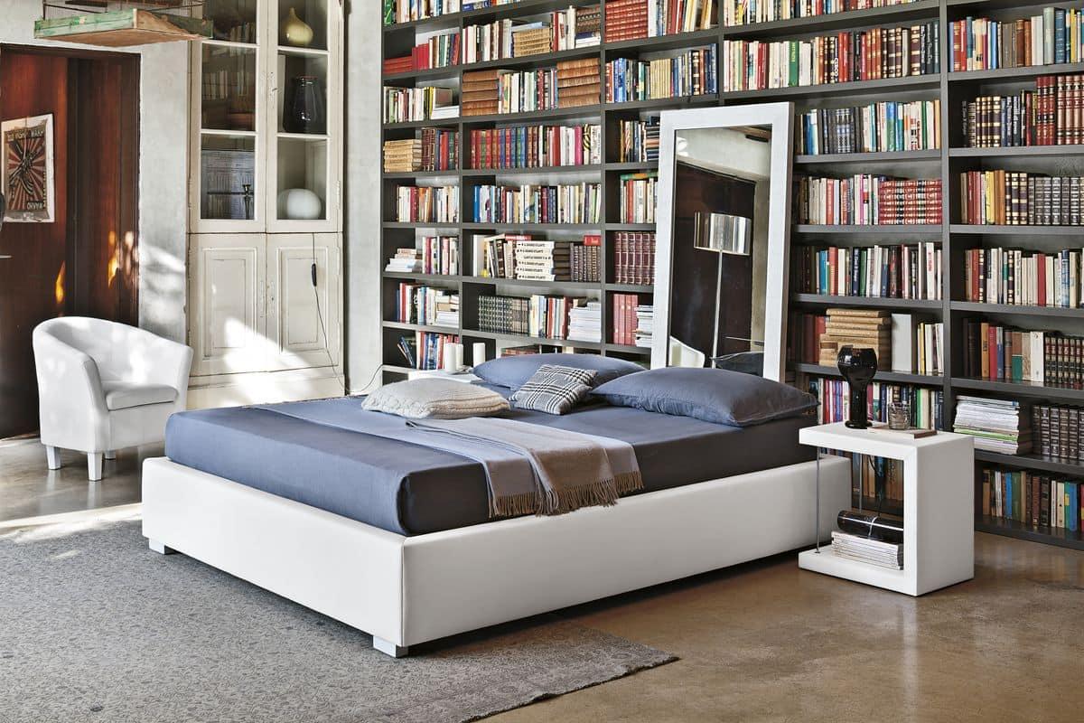 letto imbottito a 2 piazze ideale per camere da letto. Black Bedroom Furniture Sets. Home Design Ideas