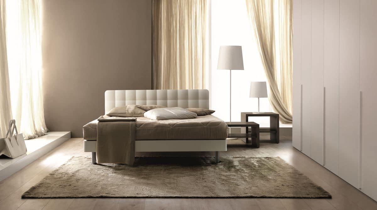 Letto matrimoniale imbottito per camere da letto - Tender by Doimo ...