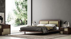 COSTANTINA, Elegant letto in legno