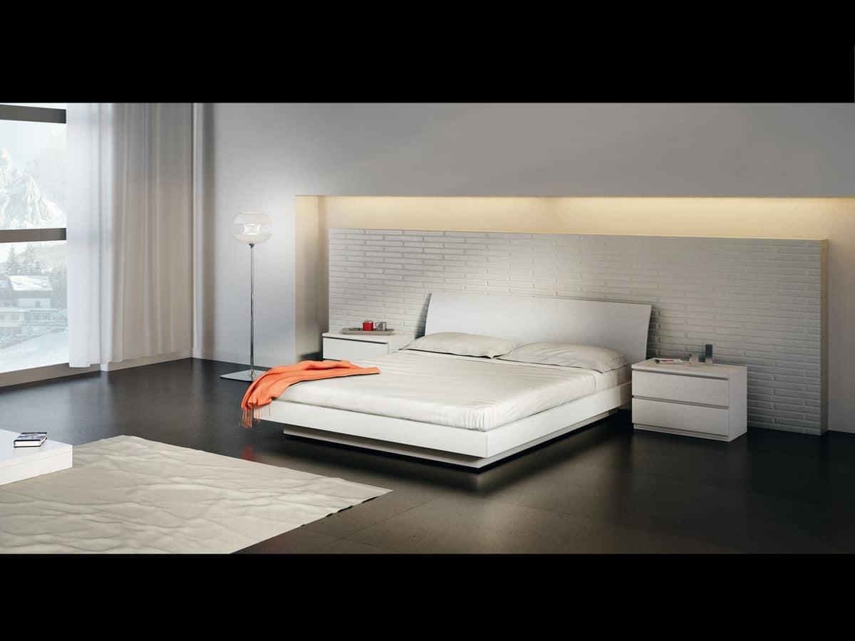 Letti moderni in legno idfdesign for Letti moderni design