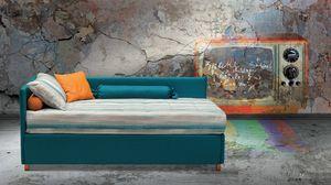 Antigua, Versatile letto rivestito in tessuto