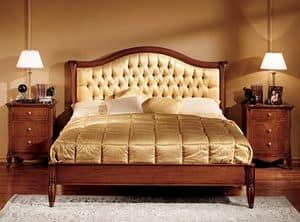 Alice letto, Letto in legno intagliato a mano per Hotel di lusso