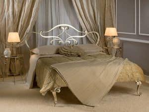 Arrigo, Letto con struttura in metallo, per camere da letto classiche