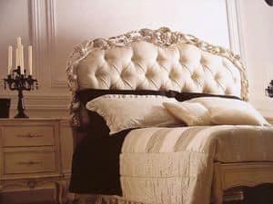 Art. 1753, Letto matrimoniale, capitonné, intagliato, per camera da letto