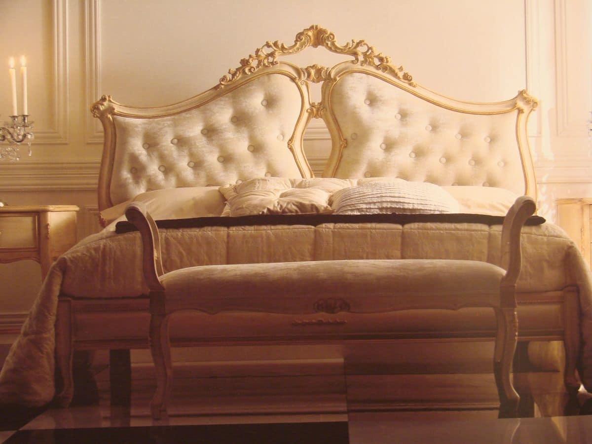 Letto matrimoniale per camera da letto letto classico per for Camera matrimoniale in stile vittoriano