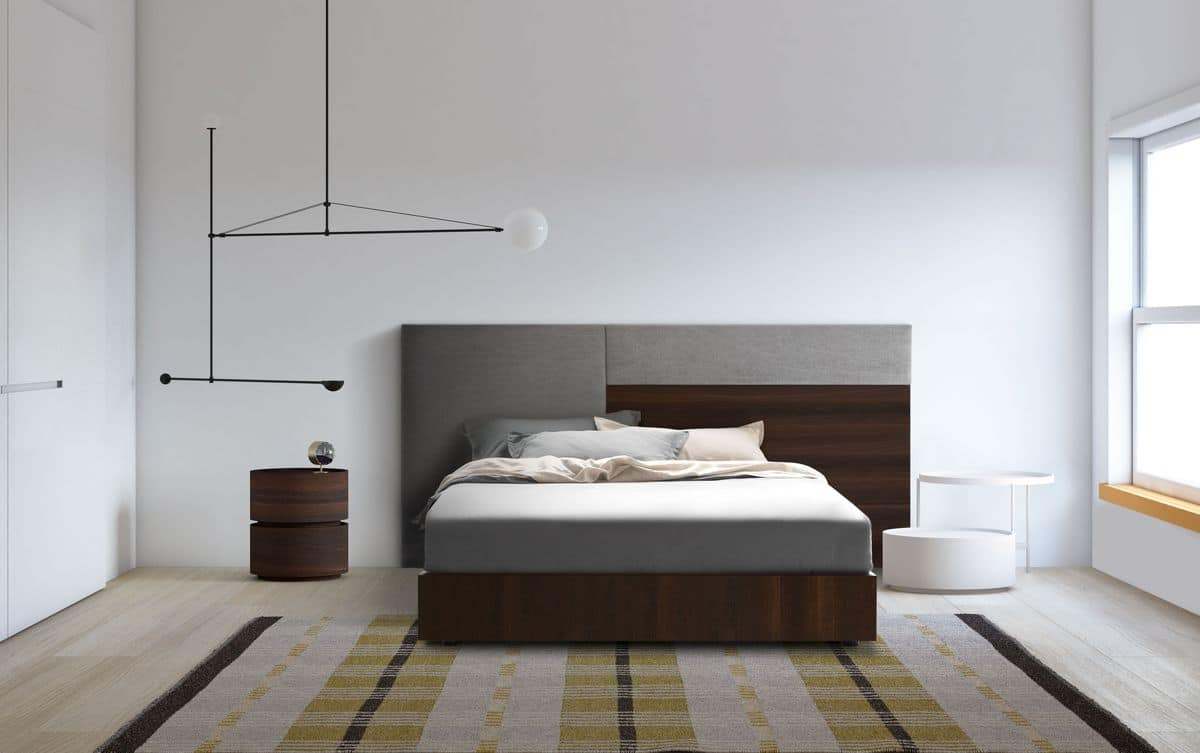 Testiera letto moderna imbottita per camere idfdesign - Testiera letto design ...
