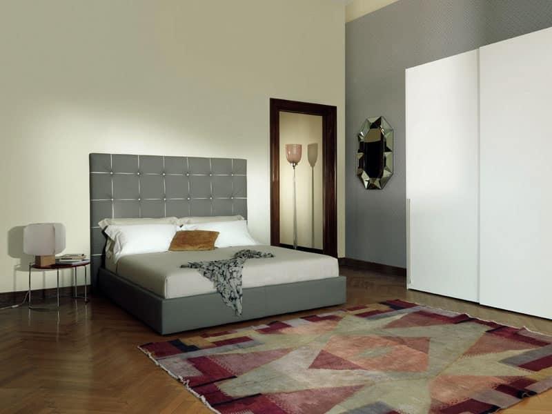 Letto imbottito con contenitore per camera moderna idfdesign - Designs of bed back ...