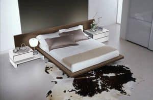 Camera 14, Arredamento per camere da letto, letto moderno con ampia testiera