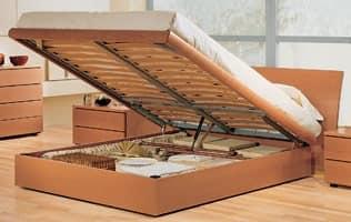 Camera con letto contenitore, in legno noce tanganica, abbinabile ...