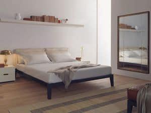 Caresse Fly letto, Letto con struttura in legno multistrato, per camera d'albergo