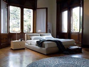 Caresse letto, Letto matrimoniale imbottito, per camere moderne o hotel