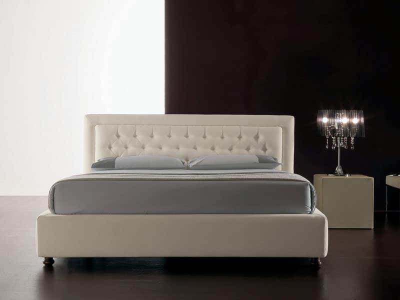 Letti moderni imbottiti idfdesign - Testiere imbottite per letto ...
