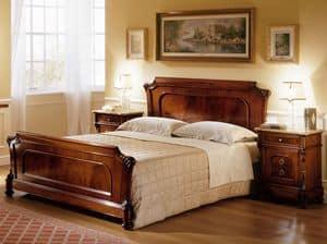 D'Este letto, Letti intagliati a mano, per Camera classica di lusso