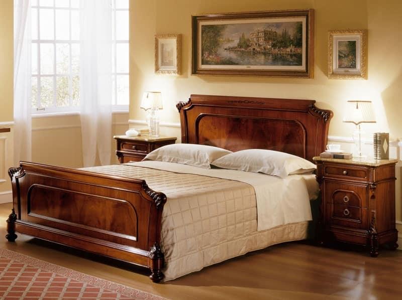 Letti intagliati a mano per camera classica di lusso - Camere da letto classiche di lusso ...