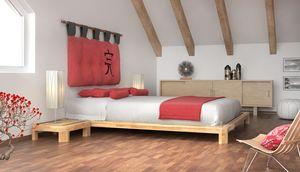 Dojo H, Letto in legno, stile giapponese