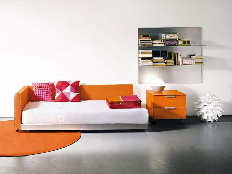 Letto divano in stile moderno per uso residenziale for Letti singoli moderni